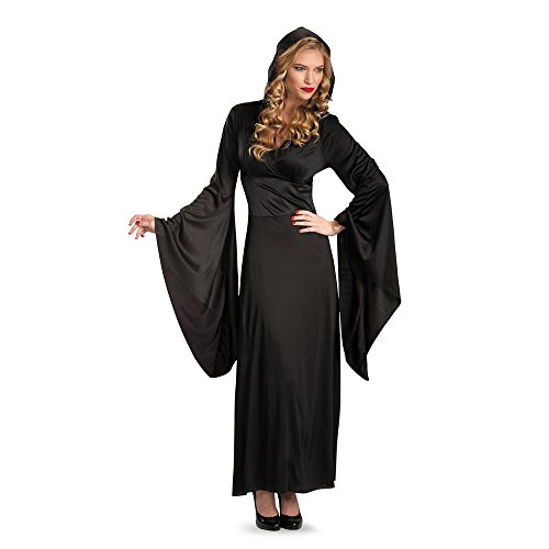 Adult Hooded Robe Costume (Up to Size (Black Hooded Dress Costume)
