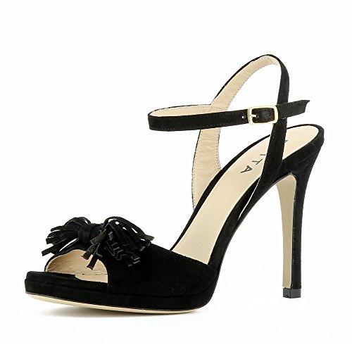 Pour Shoes Evita Sandales Noir Femme Alba tTBqqU