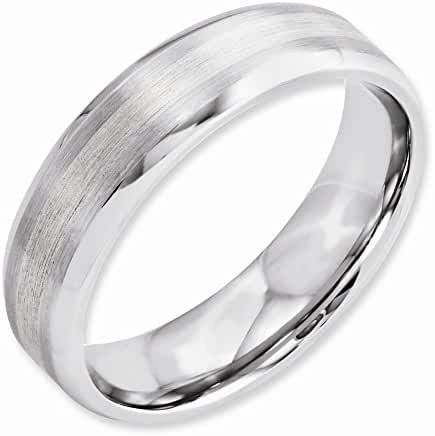 Jewelry Best Seller Cobalt Sterling Silver Inlay Satin/Polished 6mm Beveled Edge Band