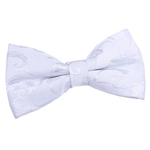 tied Floral Men Tuxedo Pre Bow White Wedding DQT Tie 1ZTqw7Pw