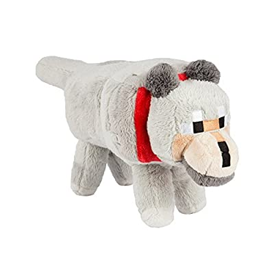 "Minecraft 15"" Wolf Plush with Hang Tag Stuffed Animal"