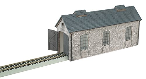 Resin Train Set (Bachmann Trains Thomas & Friends Engine Shed Resin Building Scenery Item HO Scale Train Set)