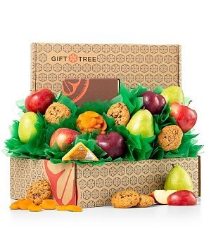 ices Fresh Fruit & Gourmet Cookie Gift Basket - Premium Quality Fresh Fruit, Cookies and Cheese (Gifttree Fruit Basket)