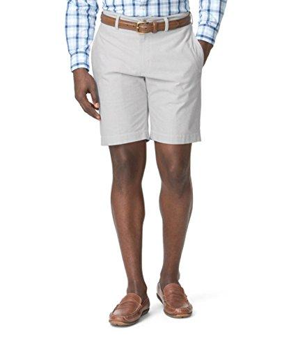 Chaps Men's Classic-Fit Oxford Flat Front Shorts (40, Light ()
