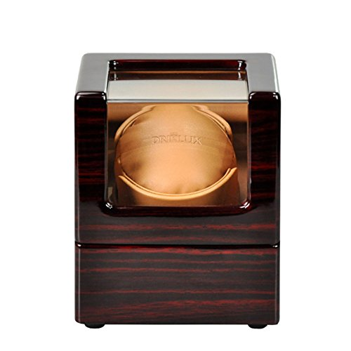 Driklux Automatic Single Watch Winder Watch Winders for Rolex (Black&Red High Gloss Finish+Brown PU)