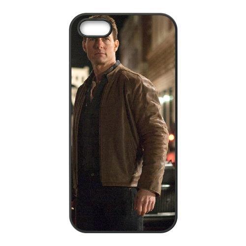 Jack Reacher 2 coque iPhone 5 5S cellulaire cas coque de téléphone cas téléphone cellulaire noir couvercle EOKXLLNCD24640