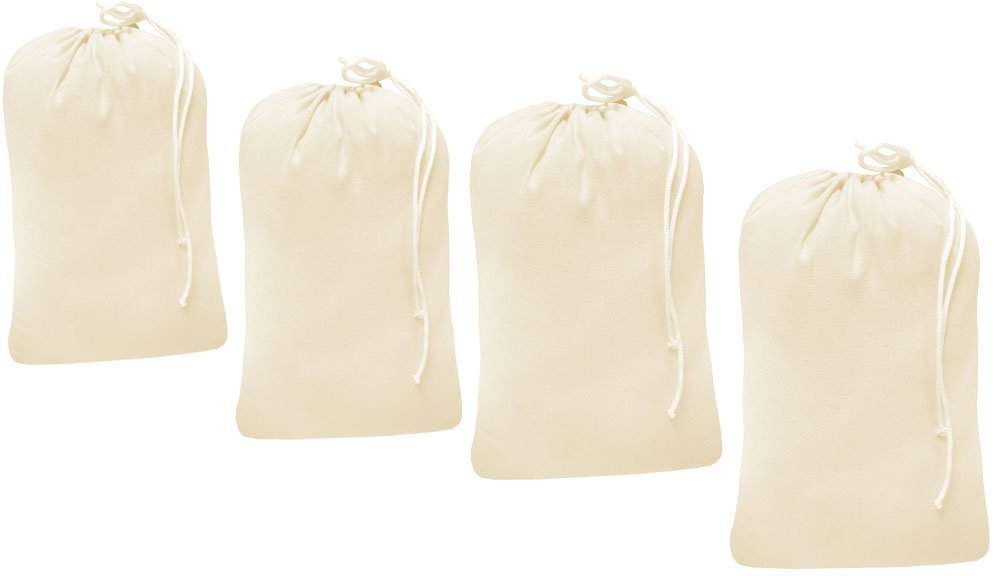 set of 4 bag Natural color-24x36 Heavy duty cotton canvas Laundry Bag This is draw strings Laundry bag /& durable.Long term solutions for laundry carring needs offered by Linen Clubs Green Frog International