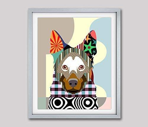 Belgian Malinois Dog Pop Art Pet Animal Giclée Print-8
