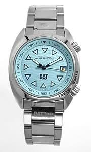 Caterpillar Skipper Diver CA0744 - Reloj analógico de mujer de cuarzo con correa de acero inoxidable plateada