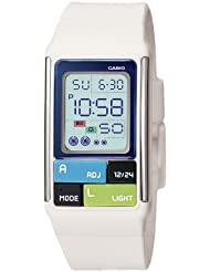 Casio Womens LDF50-7CF Pop Tone White Digital Watch