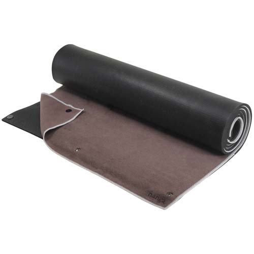 "SnapMat Hot Yoga Mat & Towel Combo (24"" x 72"") – Extra Thick 1/4"" (6.4mm) High Density Non Slip Exercise Mat with Detachable Microfiber Yoga Towel – Patent Pending"