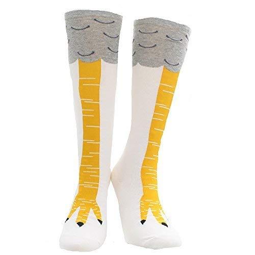 Crazy Funny Female Women Girls Chicken Legs Stockings Knee-High Thigh-High Socks (White Short Socks)