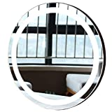 (White)50 * 50 CM Creative Round Mirror for Bedroom Bathroom Dresser Living Room Home Decoration