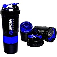 Ozy Spider Protein Shaker Bottle 500ml with 2 Storage Extra Compartment for Gym