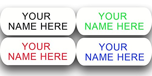 Iron on Clothing Labels - 100 - LARGE - 2 line - Personalized with Your Name! Your choice of ink color. Black - Blue - Green (Green Label Clothes)