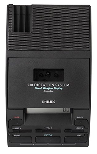 Philips LFH 730/P62 Desktop 730 Analog Mini Cassette Dictation Package with Microphone