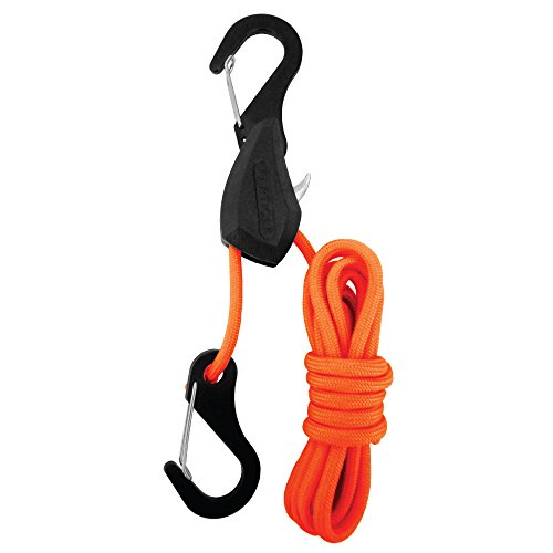 PROGRIP 056170 Better Than Bungee Rope Lock Tie Down with Snap Hooks: 6′ Orange Paracord (Pack of 1)