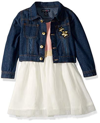 Limited Too Girls' Toddler Denim Jacket and Dress Set, Quartz Pink, 4T ()