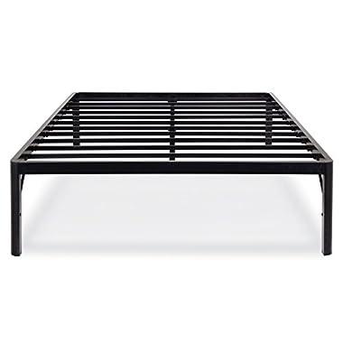 Olee Sleep Tall Round Edge Steel Slat Bed Frame S-3500 High Profile Platform Bed Frame, Queen