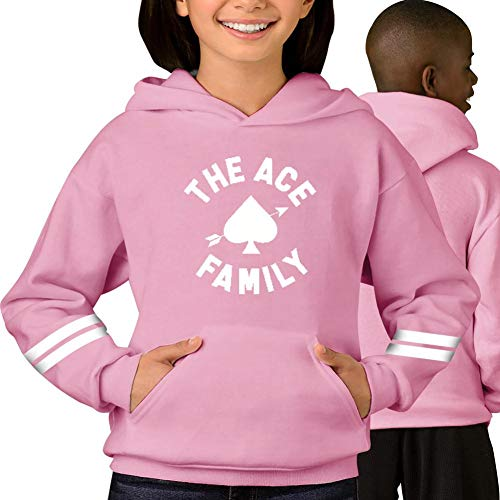 Ace Family Logo Pattern Hoodies Sweatshirts,Youth Kids Clothing Pullover Tops M