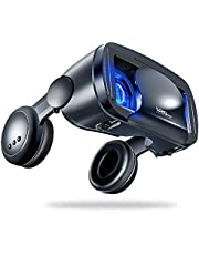 120 Degree Wide-angle Lens, Audio And Videos Version, Big Headset, Integrated Mobile Phone, 3D Cinema Gift, New 2020 Virtual Reality Glasses
