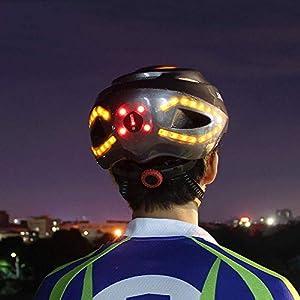 LED Casque Vélo, Équitation Direction Casque Vélo Montagne Intelligent Route Adulte Casque Unisexe Équipement Accessoires Vélo Équipement Protection Planche roulettes Scooter Hoverboard Casque