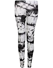 Islander Fashions Womens Printed Skinny Laggings Pants Ladies Stretchy Full Length Trouser Legging S/3XL
