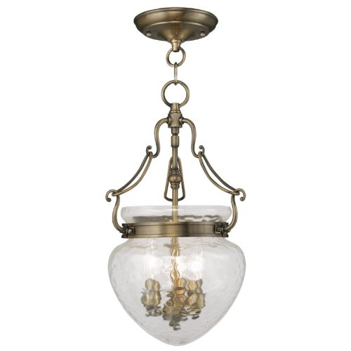 Livex Lighting 5041-01 Duchess 3-Light Antique Brass Pendant