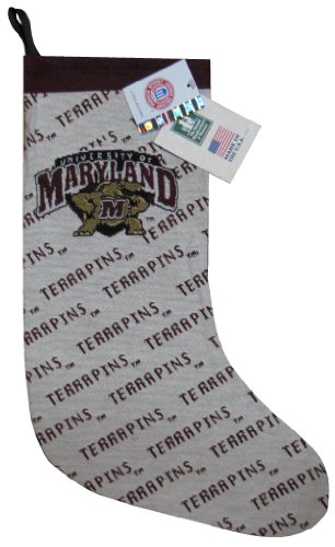 Manual Woodworkers & Weavers Woven Tapestry University of Maryland Terrapins Christmas Stocking - 12 X 20 (Gift Tapestry Christmas Stocking)