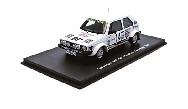 Amazon.com: Spark Model S3210 VW Golf MK1 N.14 Monte Carlo 1980 THERIER-Vial 1:43 DIE CAST: Toys & Games