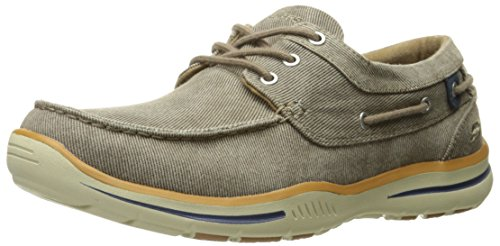 Skechers USA Men's Elected Horizon Oxford, Light Brown, 12 M US (Horizon Oxford)
