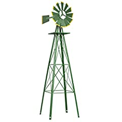 Description:       This is our brandnew yard garden windmill, which holds a total cover of solid iron material,offering you a longtime using satisfaction. This ornamental windmill measures bothwind speed and wind direction. The windmil...