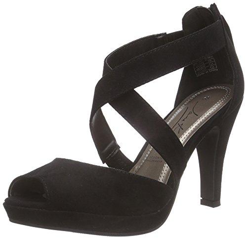 Jane Klain283 579 - Sandalias de Plataforma Mujer Negro - Schwarz (Black 009)