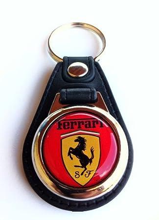 Llavero Ferrari metal y piel con modena carro supermercado ...