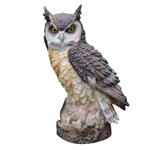 chenyu Collectibles Statue Figures Owl Resin Patio Lawn Yard Indoor Office Decorations, 7.1