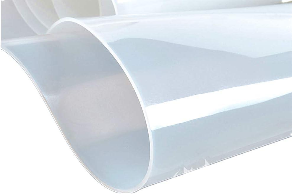 YJINGRUI 1 foglio di gomma 500 x 500 x 2 mm bianco latte foglio di silicone resistente al calore