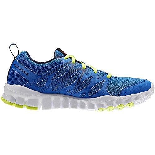 Reebok Realflex Train 4.0, Zapatillas de Deporte Para Niños Azul / Amarillo / Blanco (Blue Sport/Navy/Solar Yellow/White)