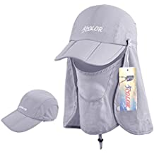 iColor Sun Caps Flap Hats UV 360° Solar Protection UPF 50+ Sun Cap Removable Neck&Face Flap Cover Caps for Man Women Baseball Backpacking Cycling Hiking Fishing Garden Hunting Outdoor Camping