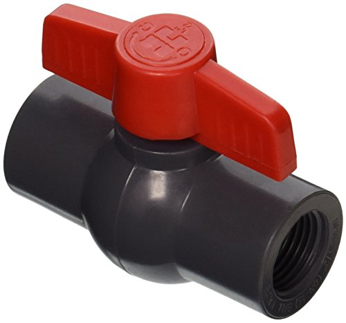 Hayward QVC1005TSEG 1/2-Inch Gray QVC Series Compact Ball Valve with Threaded End Connection