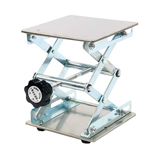 YaeTek 6 x 6'' Lab Jack - Heavy Duty Laboratory Scissor Jack - Stainless Steel Platform Lab Stand Table Scissor Lift Laboratory Jiffy Jack (6 inch by 6 inch) by YaeTek