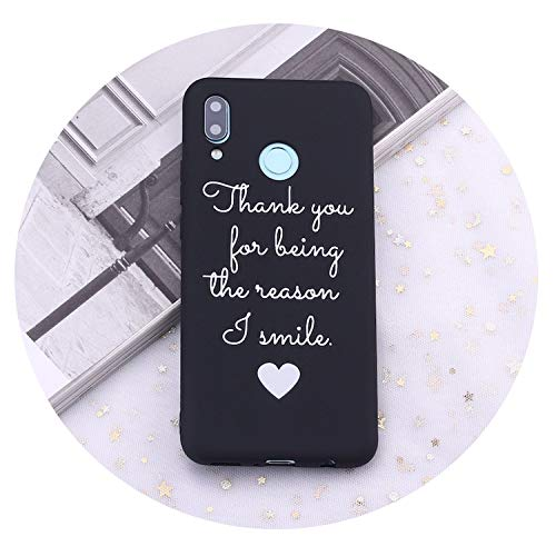 for Huawei Honor Mate 10 20 Nova P20 P30 P Smart Cute Love Quote Got Your Back Candy Silicone Phone Case Cover Capas Coque,1,P20