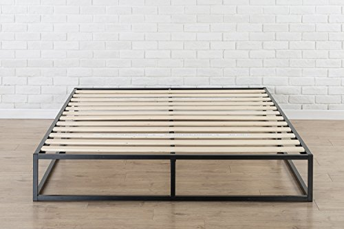 Zinus Modern Studio 10 Inch Platforma Low Profile Bed Frame, Mattress Foundation, Boxspring Optional, Wood slat support, Queen