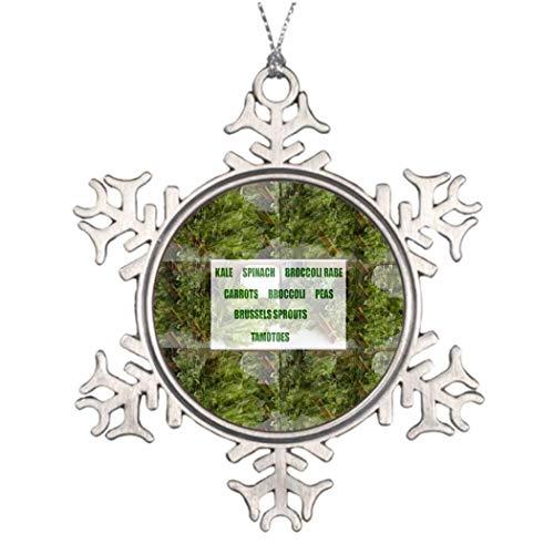 Larmai Leafy Cuisine Blank Novelty Snowflake Ornament Christmas Decorative Tree Small Keepsake