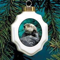 Amazon.com: Christmas Ornament: Sea Otter: Home & Kitchen