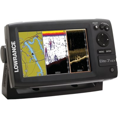 Lowrance 000-10966-001 Elite-7 Base Combo Dual-Imaging Chartplotter With 83/200/455/800 Khz Hd (Skimmer Base)