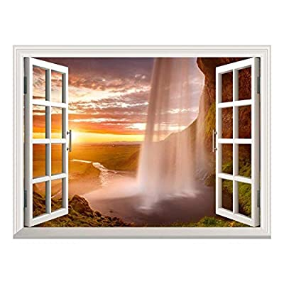 Removable Wall Sticker Wall Mural Majestic Waterfall at...