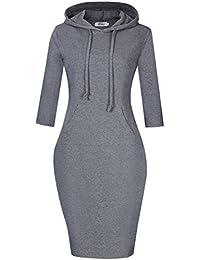 Women Pullover Stripe Pocket Keen Length Slim Sweatshirt...