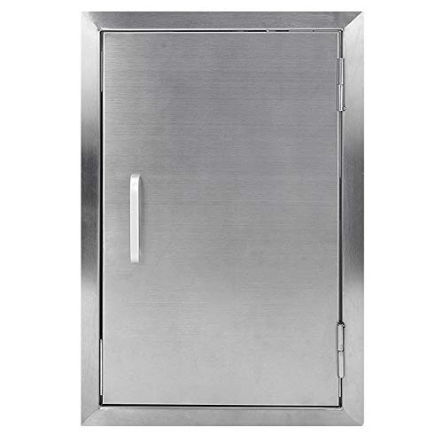 Seeutek Outdoor Kitchen Doors 17W x 24H Inch BBQ Access Door BBQ Island - Stainless Steel Single Wall Construction Vertical Door for Outdoor Kitchen Grilling Station or Commercial