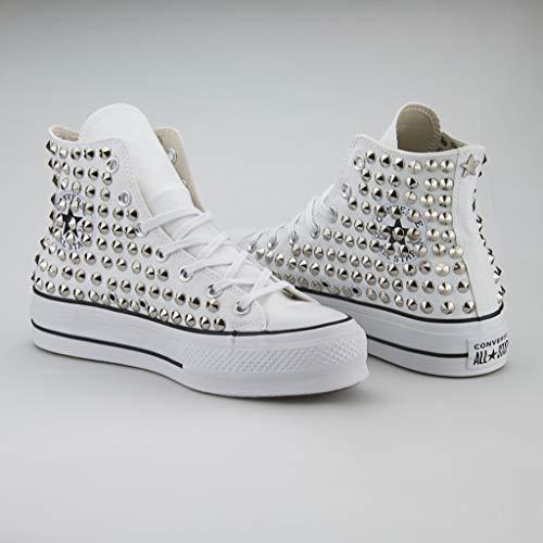 artigianali 21 Shoes Cono Converse Borchie All Platform Argento Borchiate Star Con wTqYpqfrdx