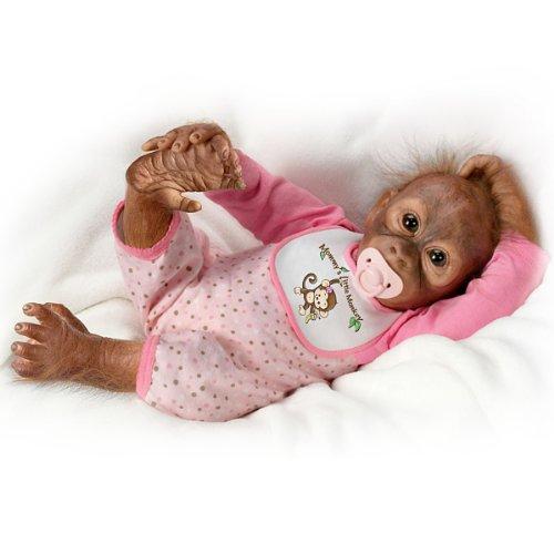 Leila S Loving Touch Baby Monkey Doll By Ashton Drake